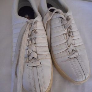 K Swiss white Leather Tennis Sneakers Shoes 7.5